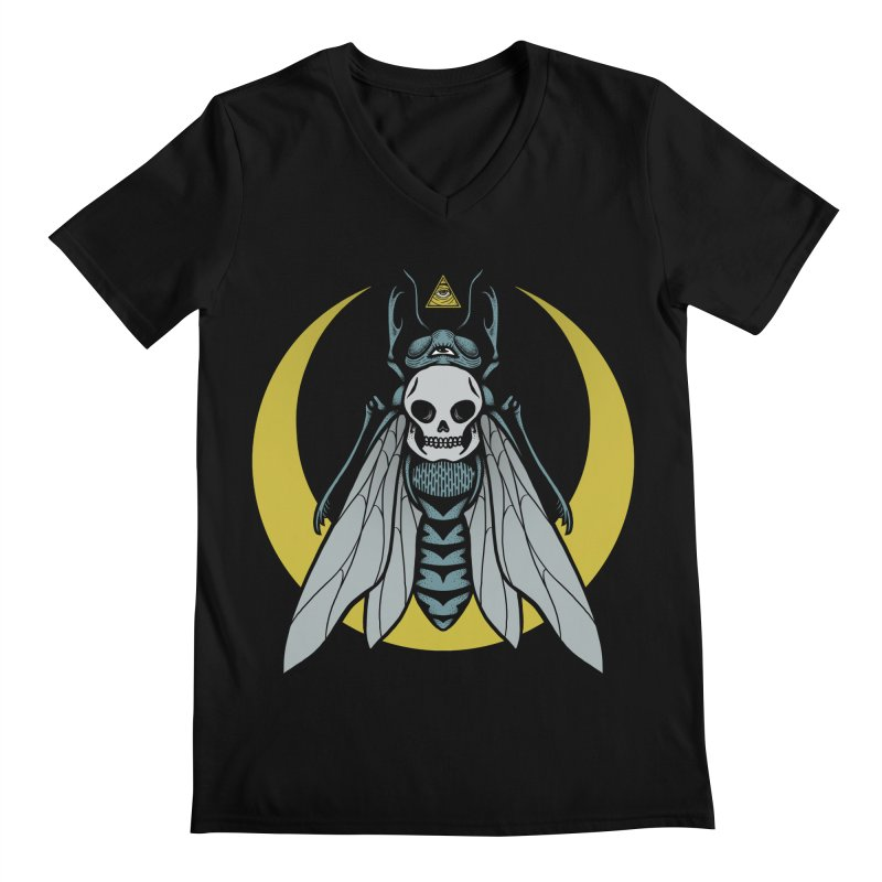 Dark Fly Men's Regular V-Neck by Deniart's Artist Shop