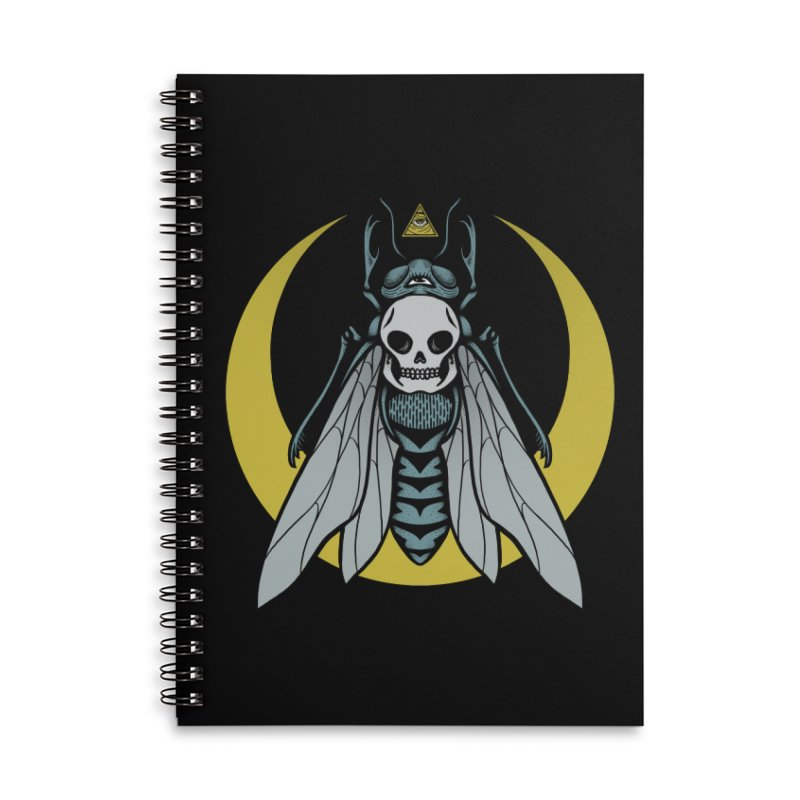 Dark Fly Accessories Lined Spiral Notebook by Deniart's Artist Shop