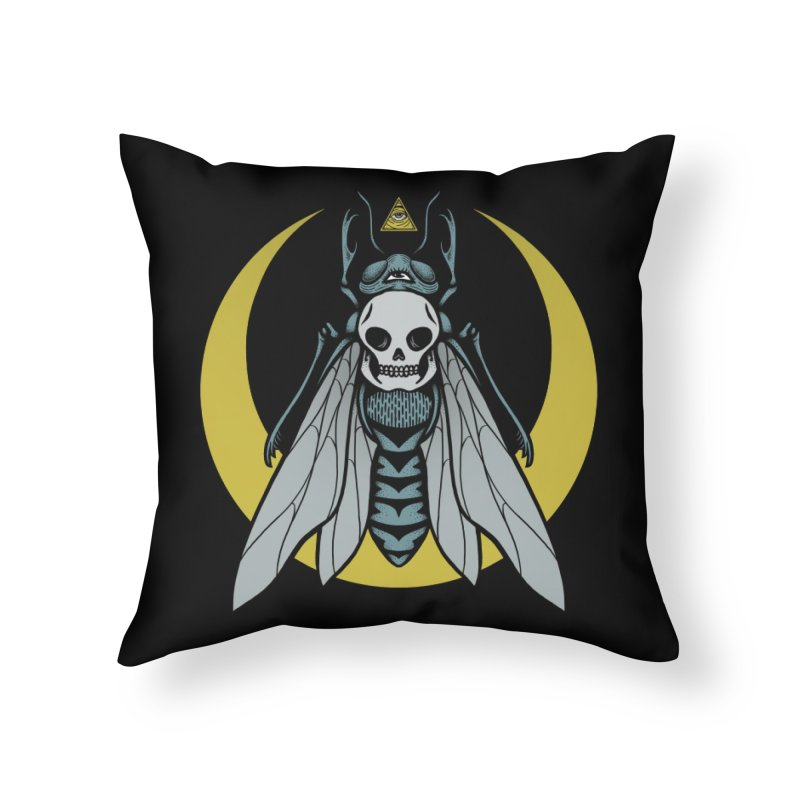 Dark Fly Home Throw Pillow by Deniart's Artist Shop