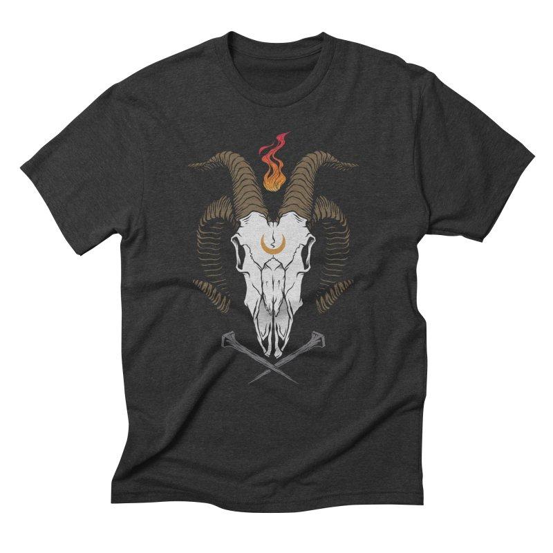 Occult Goat Men's Triblend T-Shirt by Deniart's Artist Shop