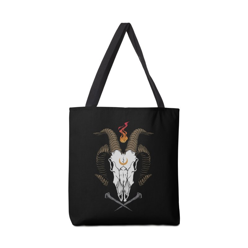 Occult Goat Accessories Tote Bag Bag by Deniart's Artist Shop