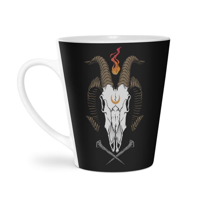 Occult Goat Accessories Latte Mug by Deniart's Artist Shop