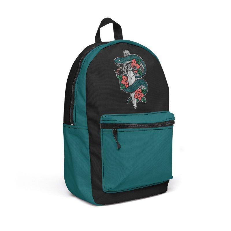 Snake & Dagger II Accessories Backpack Bag by Deniart's Artist Shop