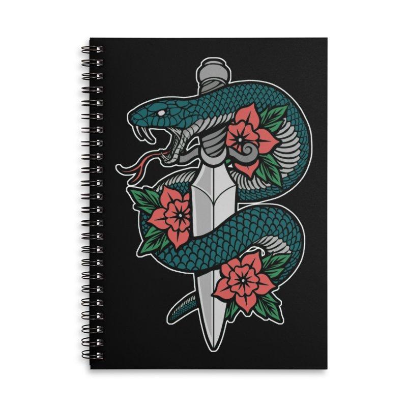 Snake & Dagger II Accessories Lined Spiral Notebook by Deniart's Artist Shop