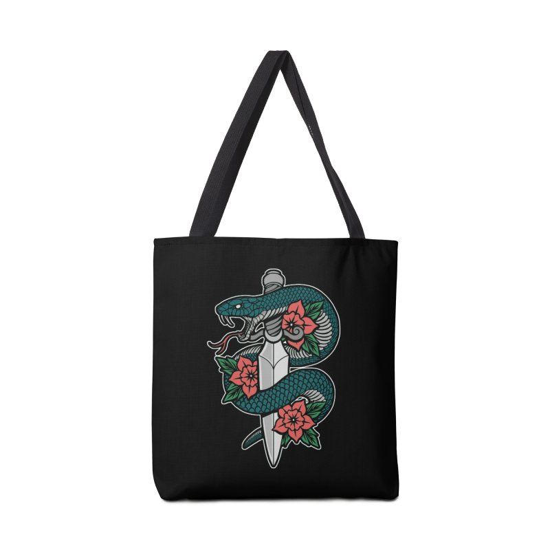 Snake & Dagger II Accessories Tote Bag Bag by Deniart's Artist Shop