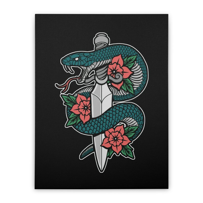 Snake & Dagger II Home Stretched Canvas by Deniart's Artist Shop