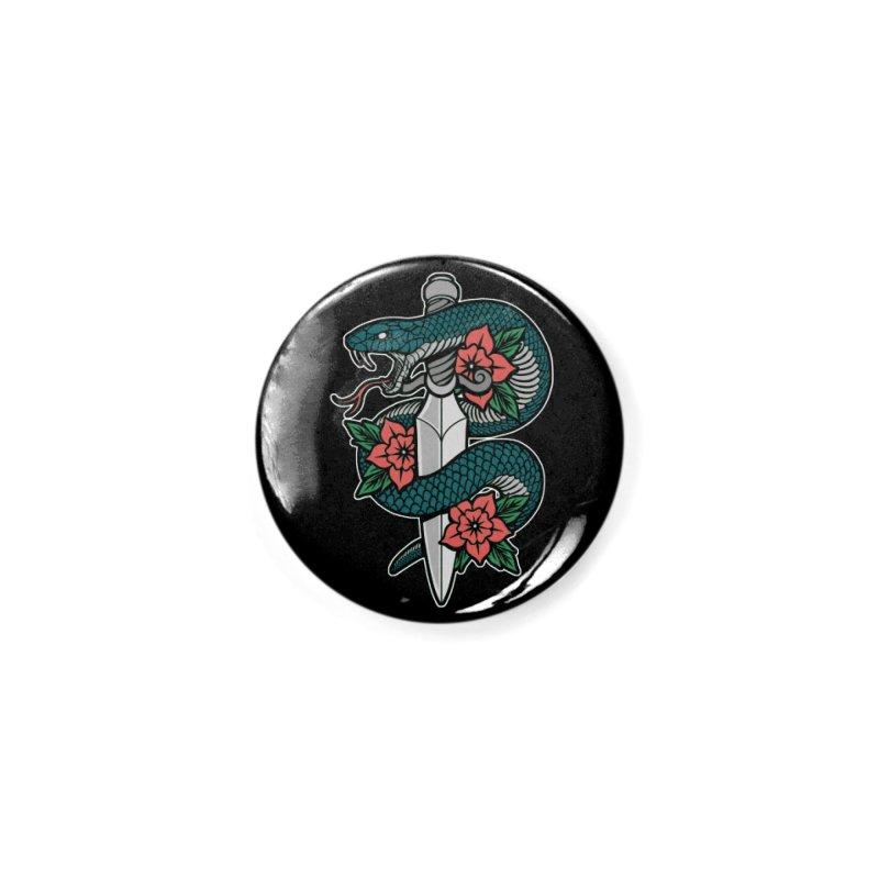 Snake & Dagger II Accessories Button by Deniart's Artist Shop