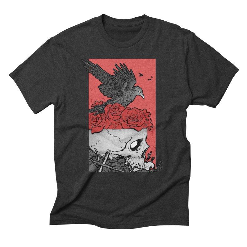 Memento Mori Men's Triblend T-Shirt by Deniart's Artist Shop