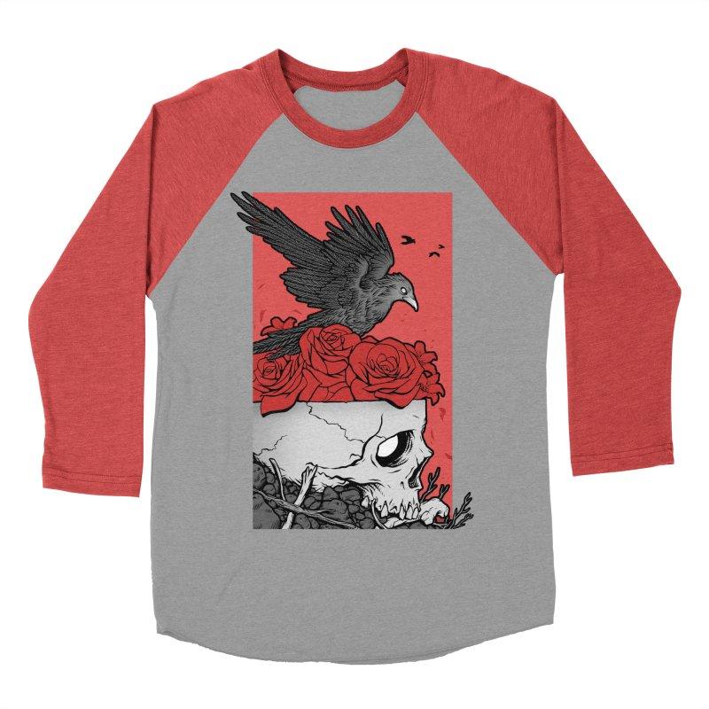Memento Mori Women's Baseball Triblend Longsleeve T-Shirt by Deniart's Artist Shop
