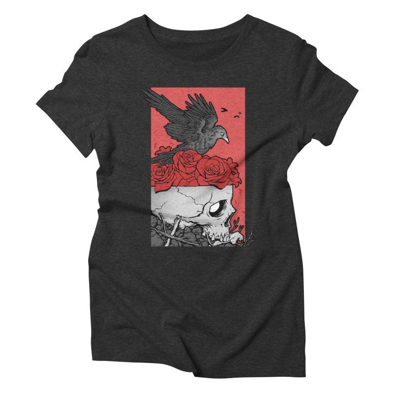 Memento Mori Women's Triblend T-Shirt by Deniart's Artist Shop