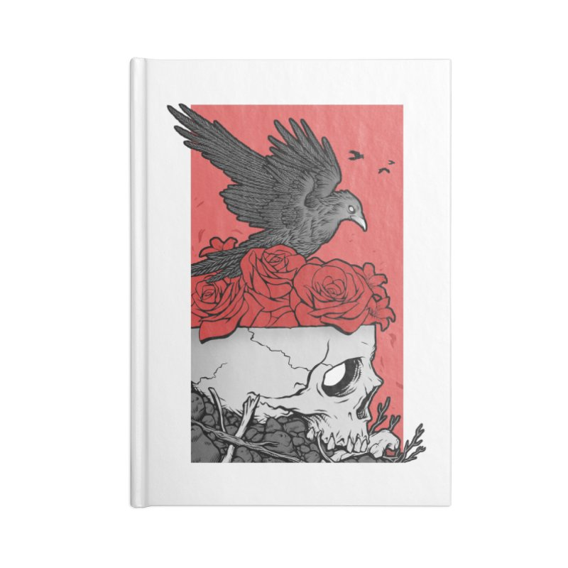 Memento Mori Accessories Blank Journal Notebook by Deniart's Artist Shop