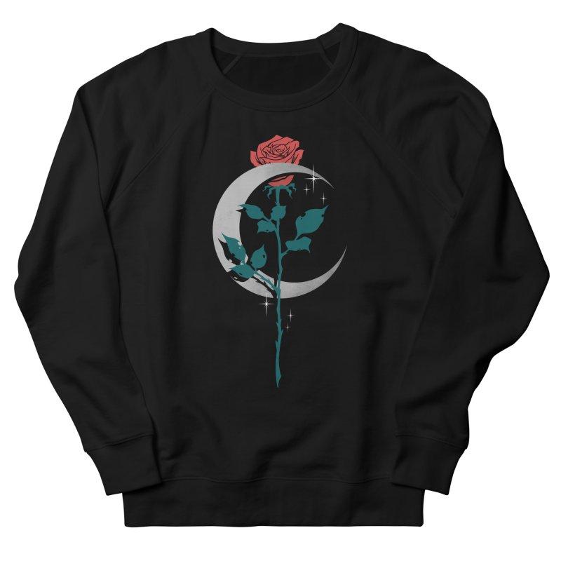 Moon Rose Women's French Terry Sweatshirt by Deniart's Artist Shop