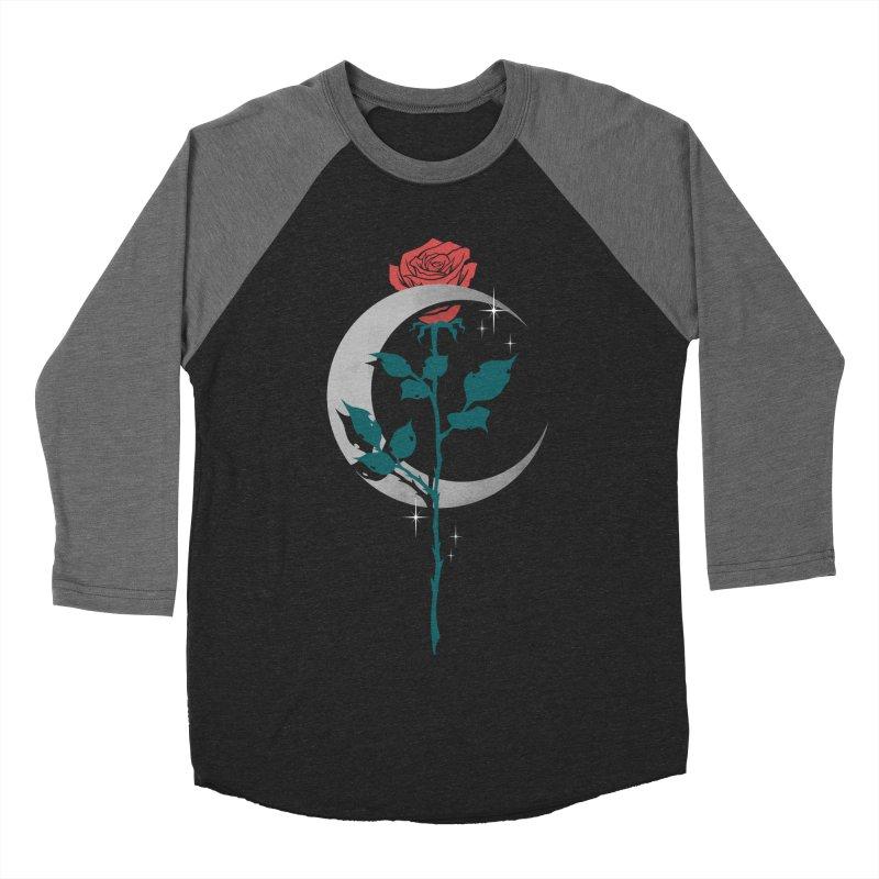 Moon Rose Women's Baseball Triblend Longsleeve T-Shirt by Deniart's Artist Shop