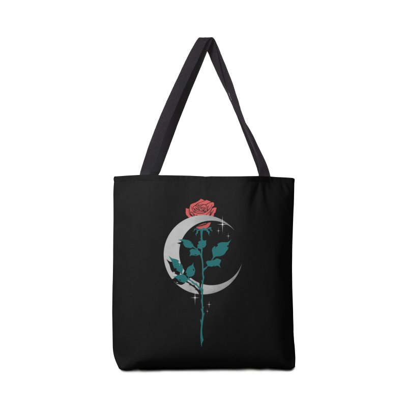 Moon Rose Accessories Tote Bag Bag by Deniart's Artist Shop