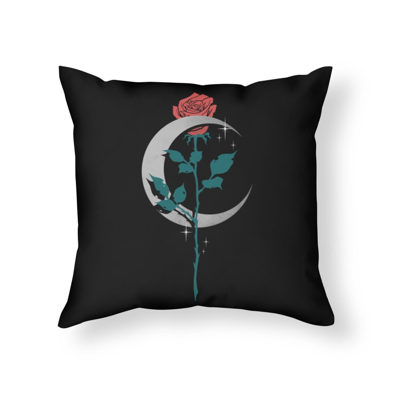 Moon Rose Home Throw Pillow by Deniart's Artist Shop