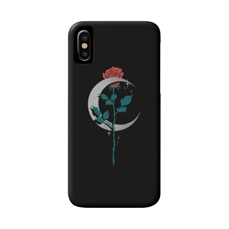 Moon Rose Accessories Phone Case by Deniart's Artist Shop