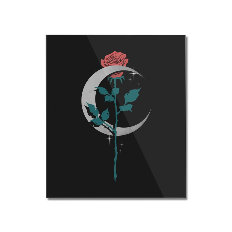Moon Rose Home Mounted Acrylic Print by Deniart's Artist Shop