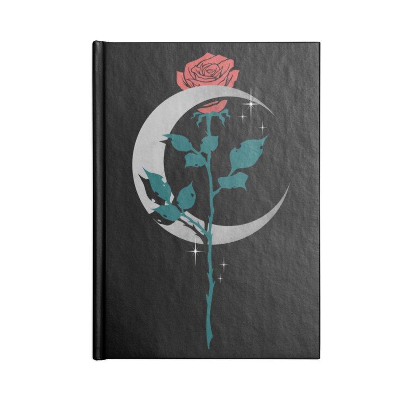 Moon Rose Accessories Blank Journal Notebook by Deniart's Artist Shop