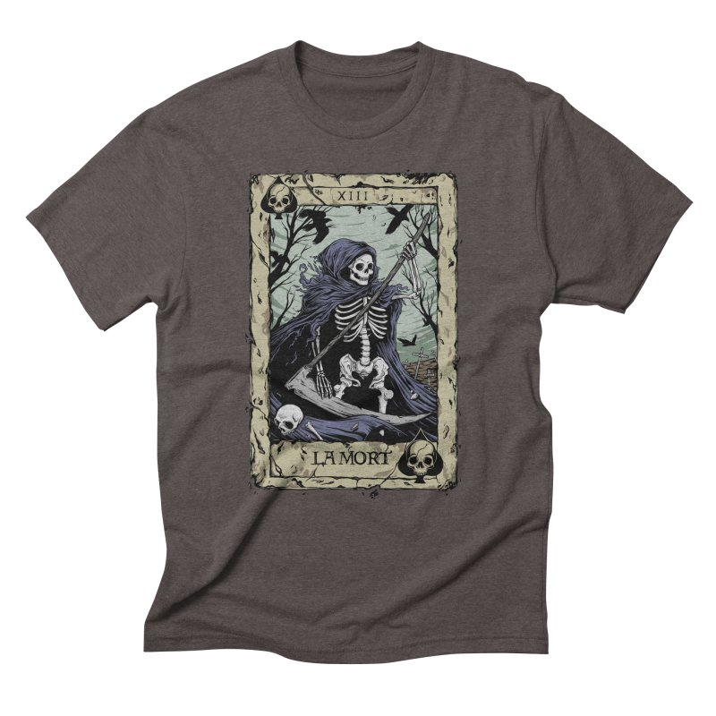 Death Card Men's Triblend T-Shirt by Deniart's Artist Shop