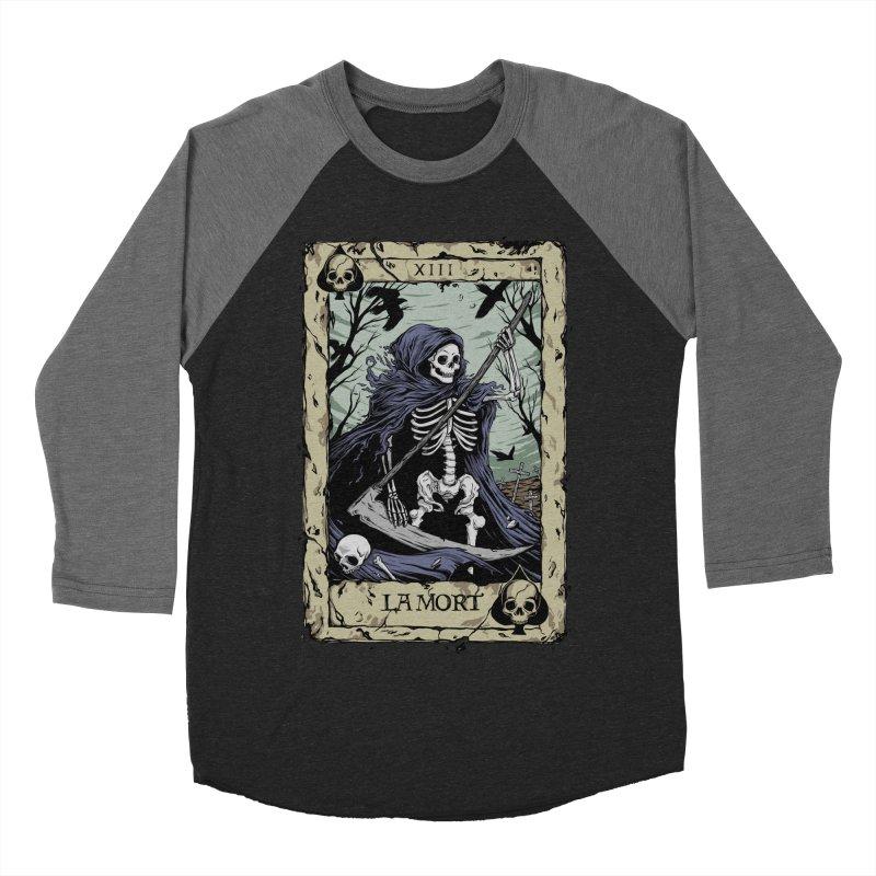 Death Card Women's Baseball Triblend Longsleeve T-Shirt by Deniart's Artist Shop
