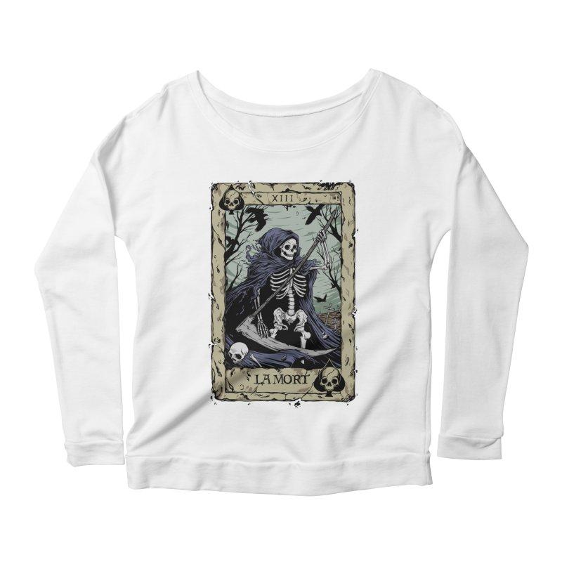 Death Card Women's Scoop Neck Longsleeve T-Shirt by Deniart's Artist Shop