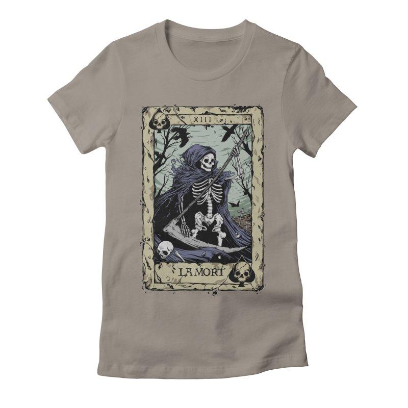 Death Card Women's Fitted T-Shirt by Deniart's Artist Shop