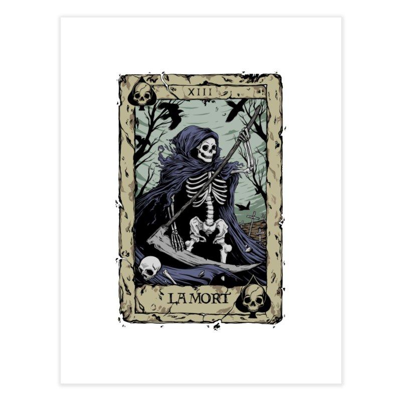 Death Card Home Fine Art Print by Deniart's Artist Shop