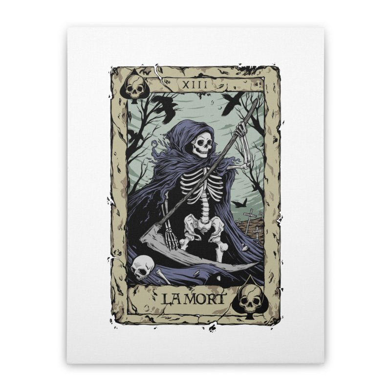 Death Card Home Stretched Canvas by Deniart's Artist Shop