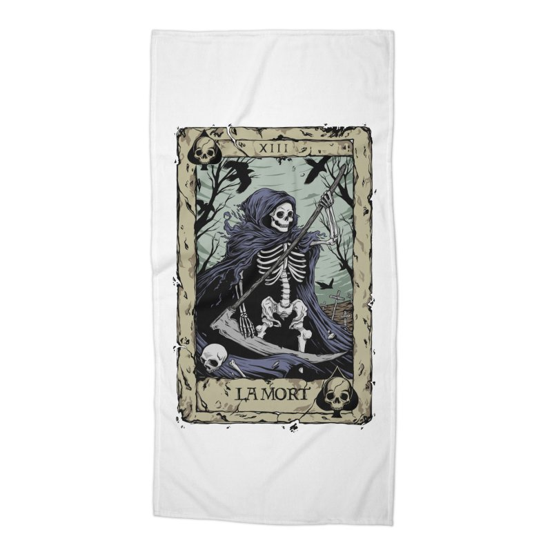 Death Card Accessories Beach Towel by Deniart's Artist Shop