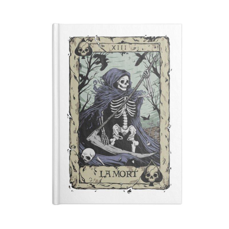 Death Card Accessories Lined Journal Notebook by Deniart's Artist Shop
