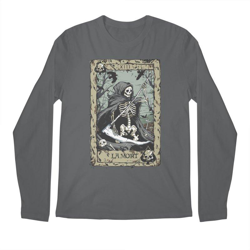 Death Card Men's Regular Longsleeve T-Shirt by Deniart's Artist Shop