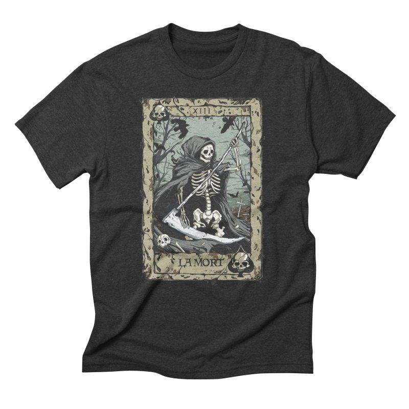 Death Card Men's Triblend T-Shirt by Deniart's Artist Shop
