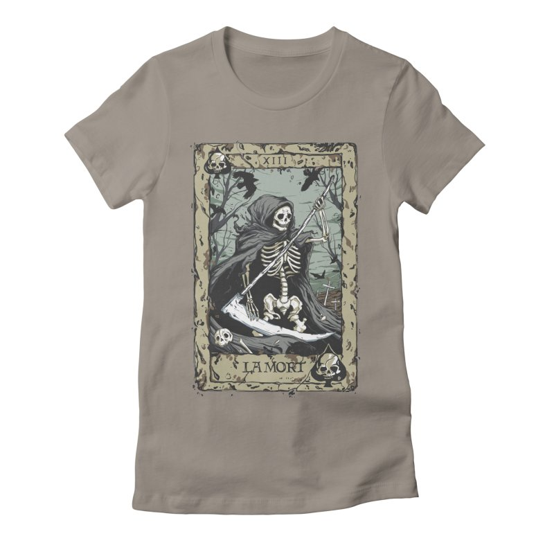 Death Card Women's Fitted T-Shirt by Deniart's Artist Shop