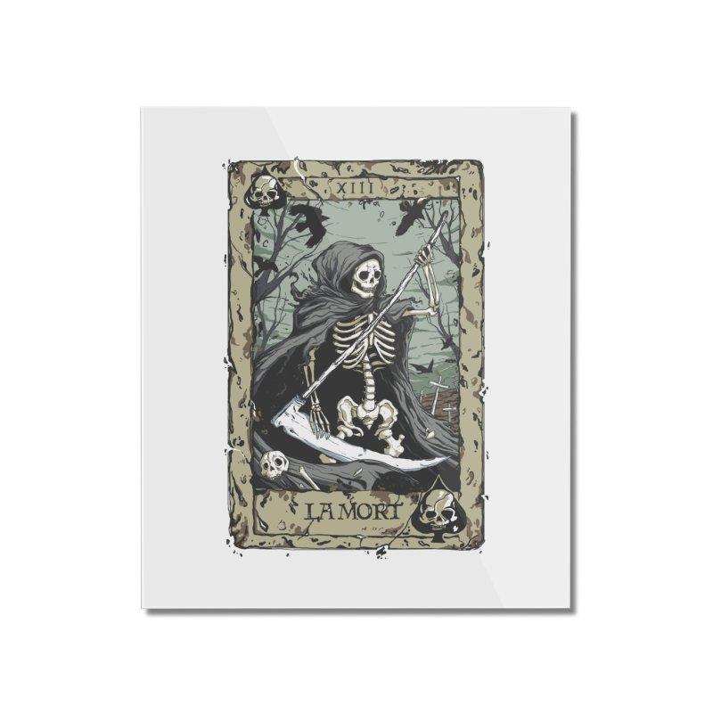 Death Card Home Mounted Acrylic Print by Deniart's Artist Shop