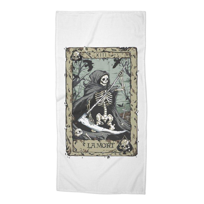 Death Card Accessories Beach Towel by Deniart's Artist Shop