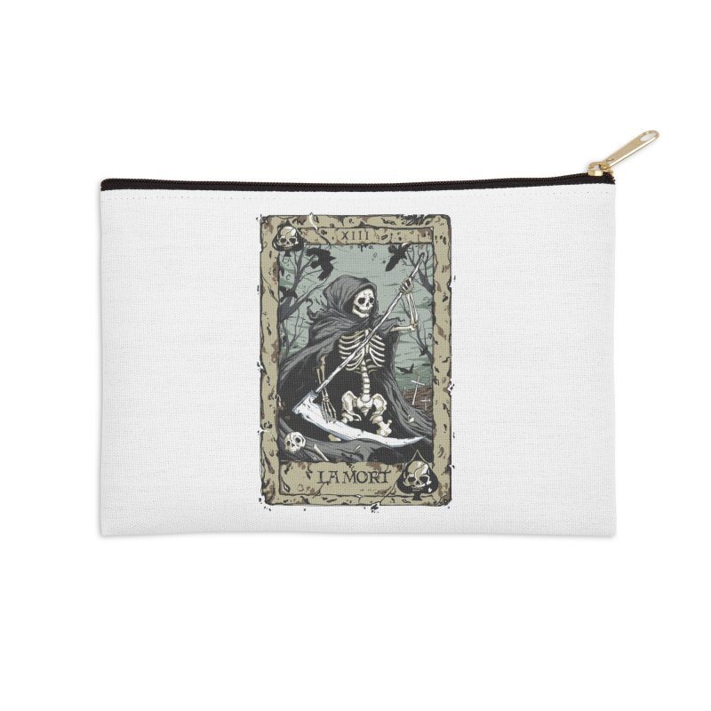 Death Card Accessories Zip Pouch by Deniart's Artist Shop