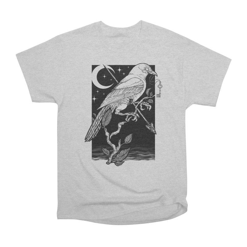 Night Crow Men's Heavyweight T-Shirt by Deniart's Artist Shop