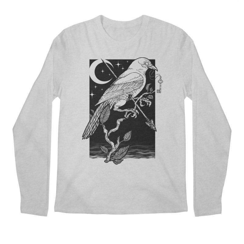 Night Crow Men's Regular Longsleeve T-Shirt by Deniart's Artist Shop