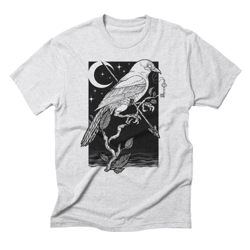 Night Crow Men's Triblend T-Shirt by Deniart's Artist Shop