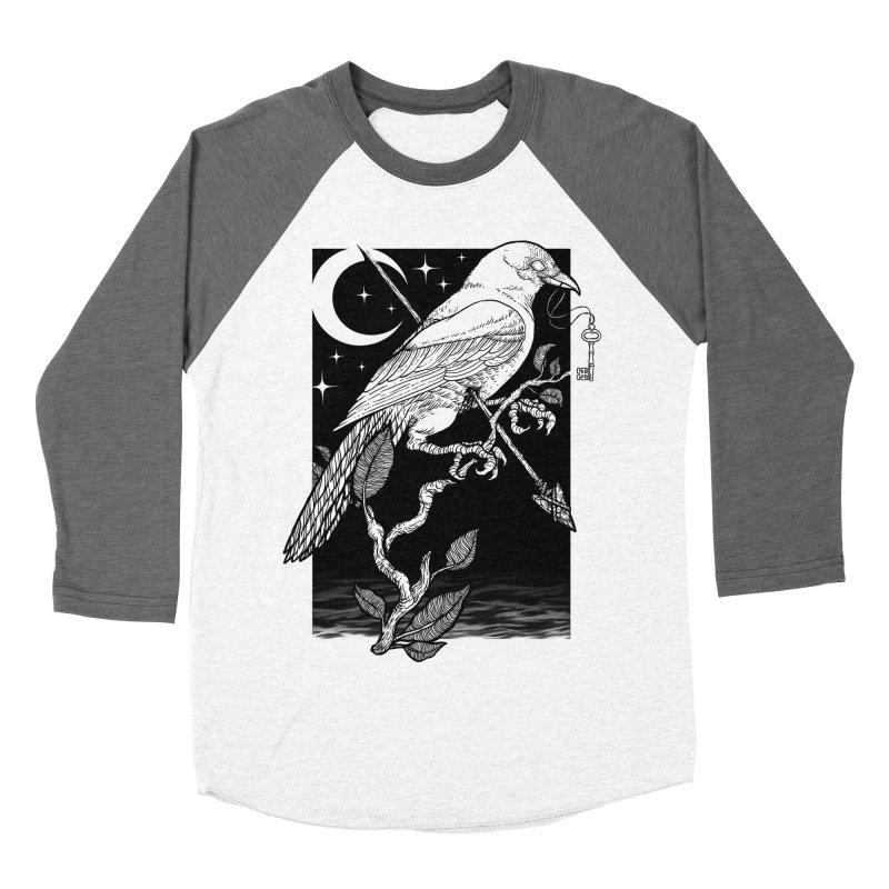 Night Crow Women's Baseball Triblend Longsleeve T-Shirt by Deniart's Artist Shop