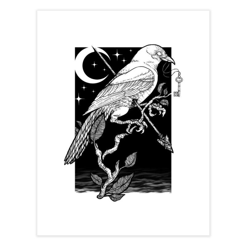 Night Crow Home Fine Art Print by Deniart's Artist Shop