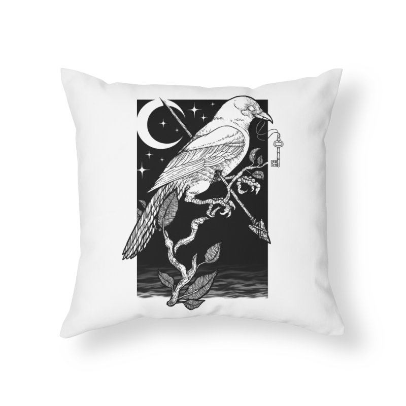 Night Crow Home Throw Pillow by Deniart's Artist Shop