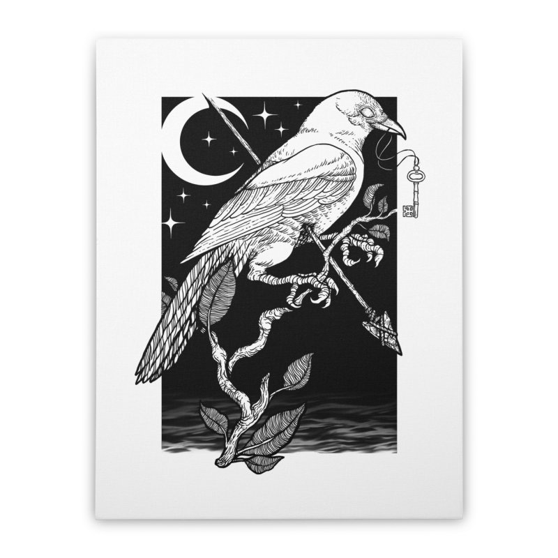 Night Crow Home Stretched Canvas by Deniart's Artist Shop