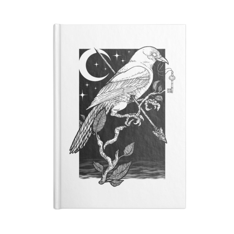 Night Crow Accessories Lined Journal Notebook by Deniart's Artist Shop