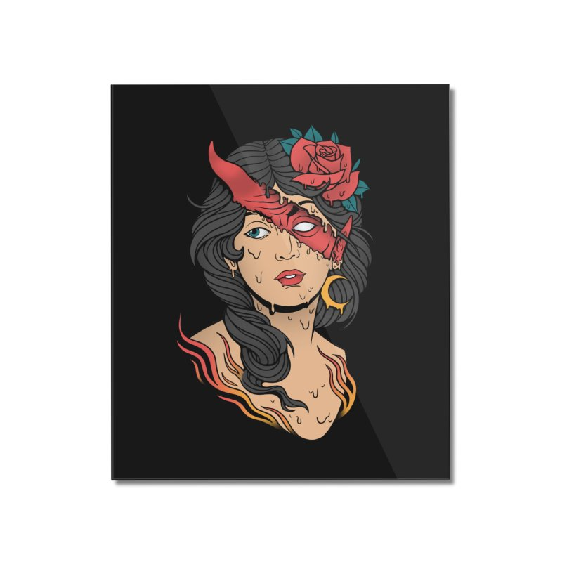 The Evil Inside Home Mounted Acrylic Print by Deniart's Artist Shop