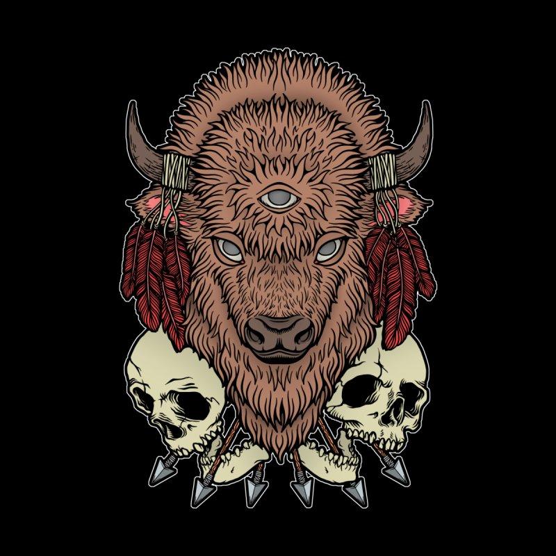 Wild Bison Men's T-Shirt by Deniart's Artist Shop