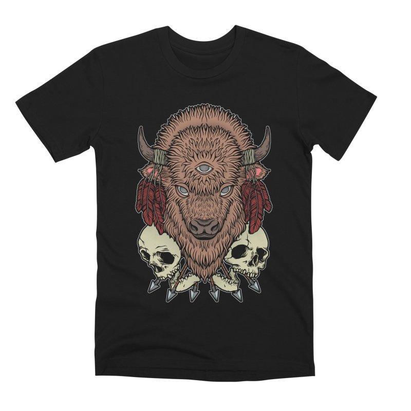 Wild Bison Men's Premium T-Shirt by Deniart's Artist Shop