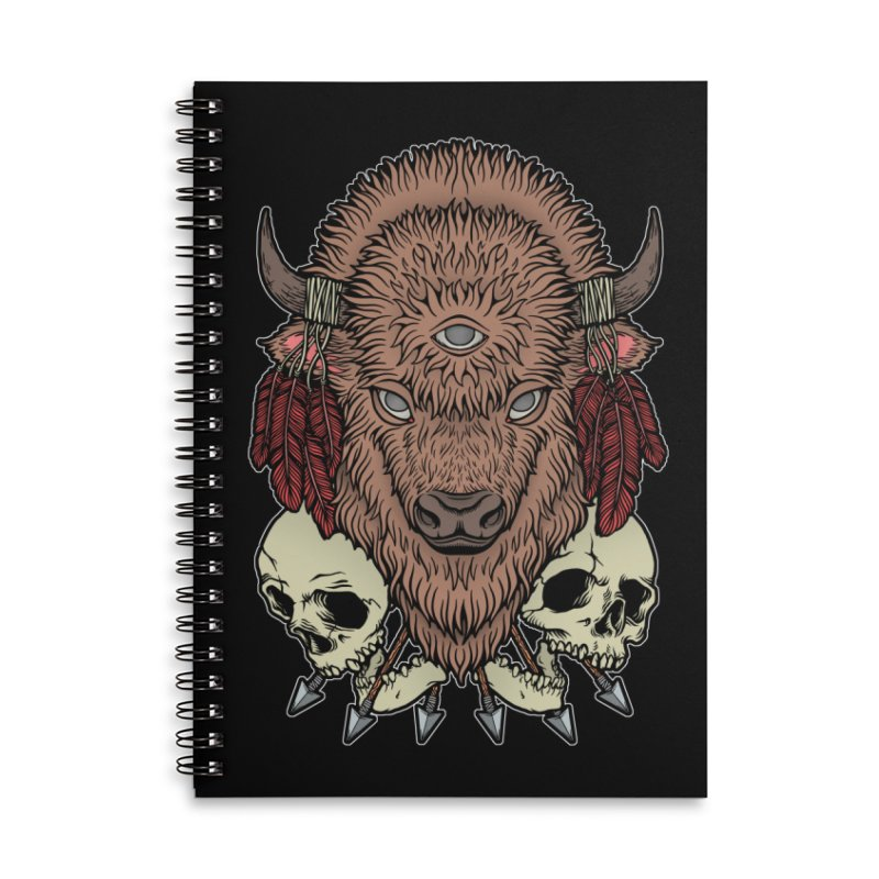 Wild Bison Accessories Lined Spiral Notebook by Deniart's Artist Shop