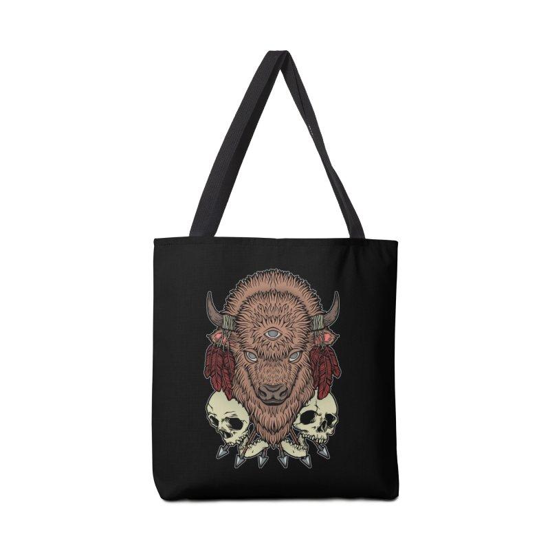 Wild Bison Accessories Tote Bag Bag by Deniart's Artist Shop
