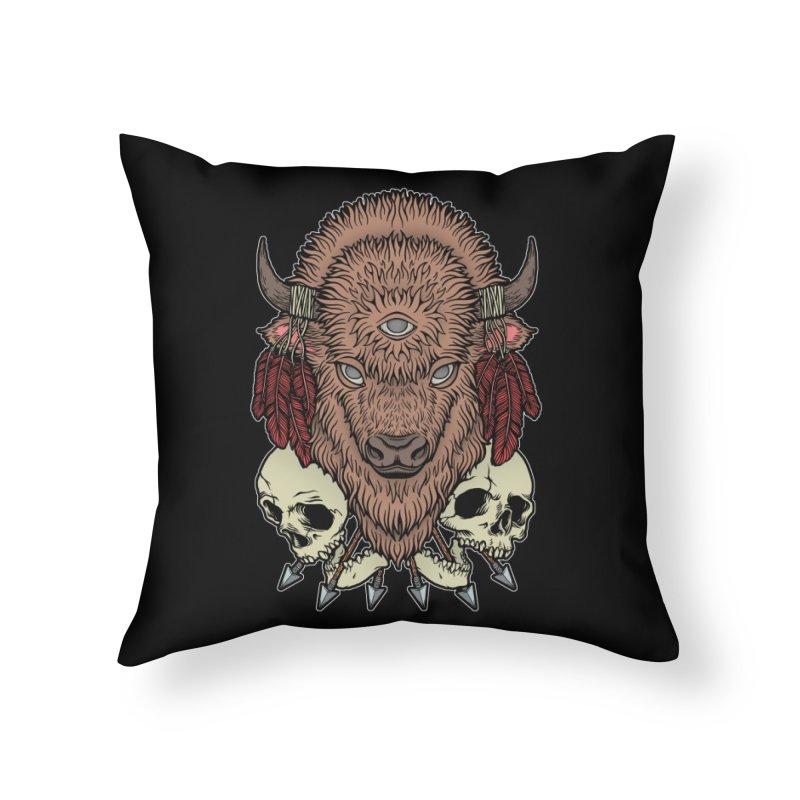 Wild Bison Home Throw Pillow by Deniart's Artist Shop